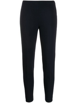 Les Copains slim fit cropped trousers - Blue