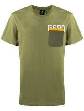 G-Star Raw Research logo chest pocket T-shirt - Green