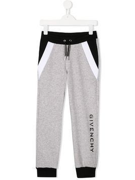 Givenchy Kids drawstring track trousers - Grey