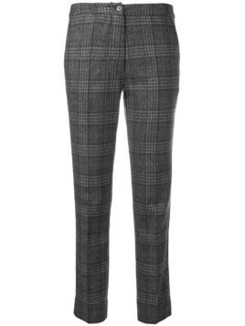 Gentry Portofino slim fit plaid trousers - Grey