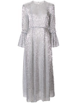 Huishan Zhang sequin embellished dress - Silver