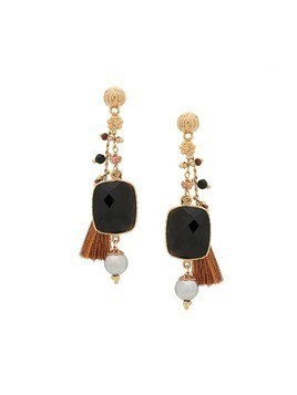 Gas Bijoux Serti Pondicherie earrings - Black