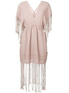 Caravana fringed short dress - Pink