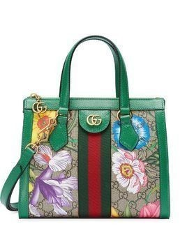 Gucci Ophidia Floral pattern tote bag - Green