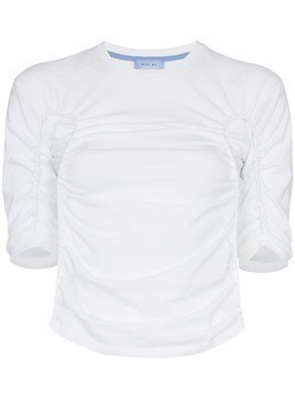 Mugler ruched front T-shirt - White