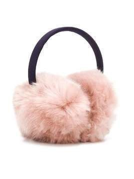 Hucklebones London faux fur earmuffs - PINK