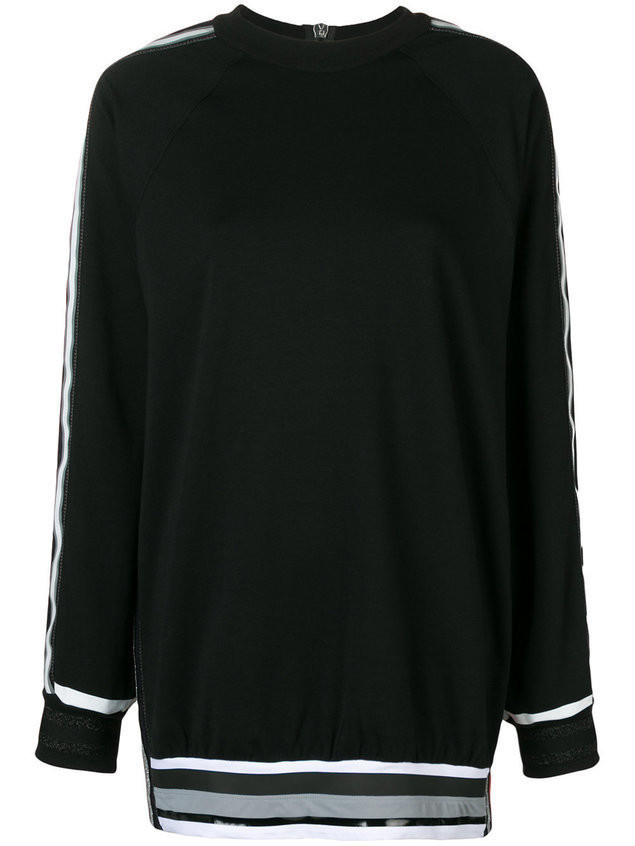No Ka' Oi oversized stripe detail sweatshirt - Black