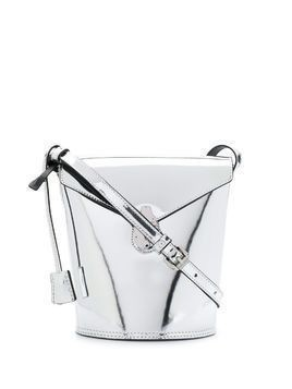 Calvin Klein medium metallic bucket bag - Grey