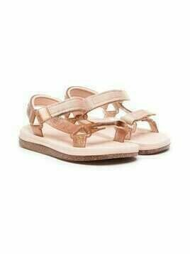 Mini Melissa touch-strap detail sandals - PINK