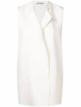 Dusan tailored oversized waistcoat - White