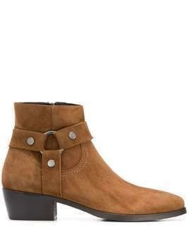 Albano strap-embellished ankle boots - Brown