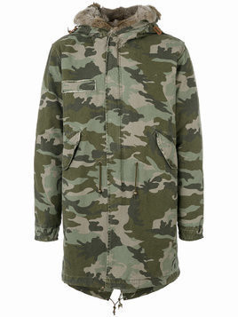 Mr & Mrs Italy camouflage mid parka - Green