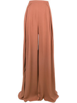 Jacquemus super wide palazzo pants - Brown