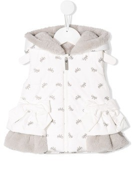 Lapin House hooded gilet - White