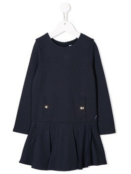 Chloé Kids peplum hem midi dress - Blue