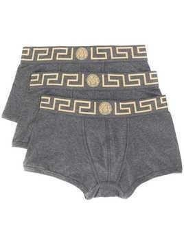 Versace logo band boxers - Grey