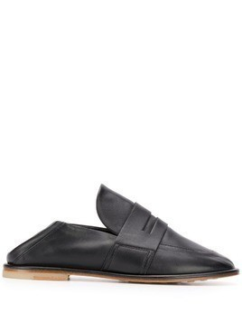 AGL round toe loafers - BLACK