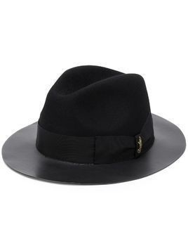 Borsalino ribbon fedora hat - Black