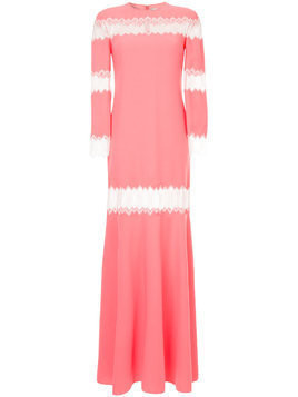 Huishan Zhang lace inserts gown - PINK