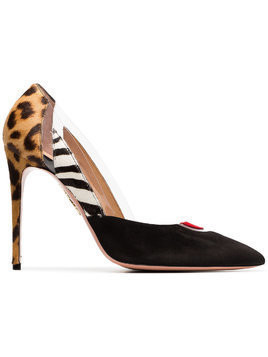 Aquazzura multicoloured Fearless 105 suede ponyskin and leather pumps - Unavailable