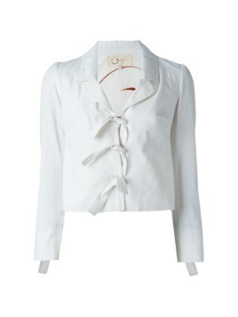 Romeo Gigli Pre-Owned tie fastening jacket - White