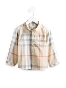 Burberry Kids - House Check shirt - Kinder - Cotton - 6 mth - Nude & Neutrals
