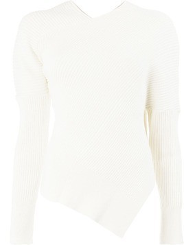 Aalto ribbed knit top - White