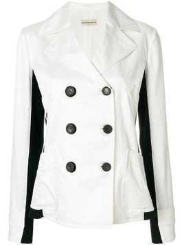 Giorgio Armani Pre-Owned side panels double-breasted jacket - White