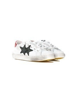 2 Star Kids lace-up sneakers - White