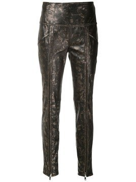 Andrea Bogosian Pietra leather skinny trousers - Metallic