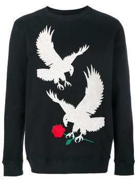 Intoxicated eagle-embroidered sweatshirt - Black