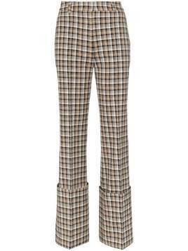 Beaufille Moretti turned up cuff straight leg trousers - NEUTRALS