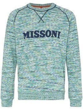 Missoni logo embellished cotton jumper - Multicolour