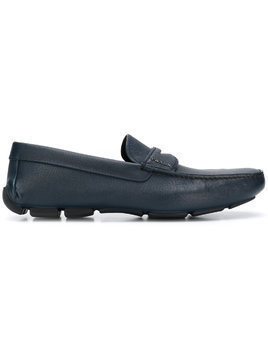 Prada square toe loafers - Blue