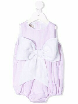 La Stupenderia bow-detail sleeveless body - Pink