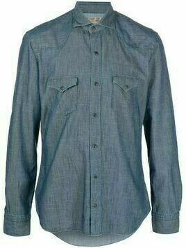 Barba cotton denim shirt - Blue