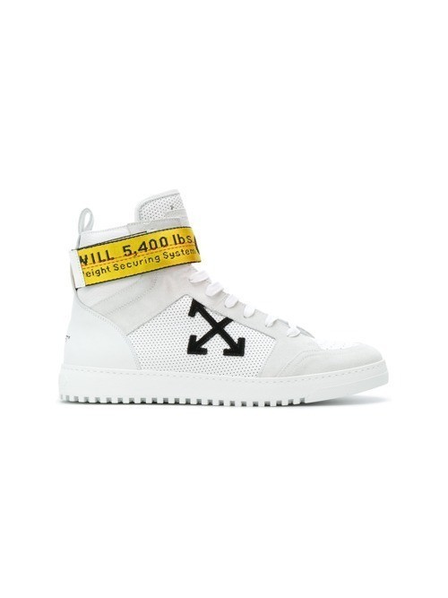 Off-White industrial tape high top sneakers