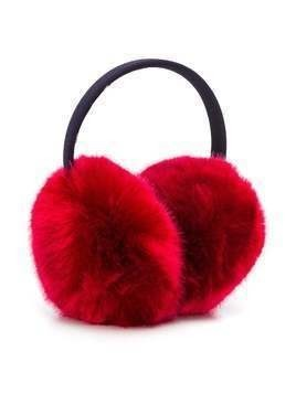 Hucklebones London faux fur earmuffs - Red