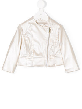 Miss Grant Kids metallic jacket - Oro-00017
