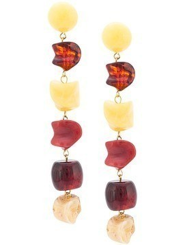 Cult Gaia stone earrings - Yellow & Orange