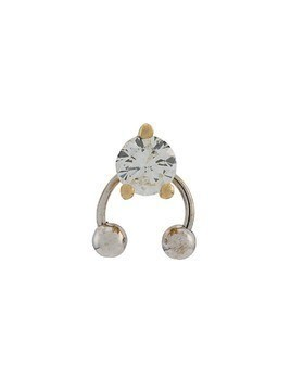 Delfina Delettrez 18kt yellow and white gold Two In One diamond earring