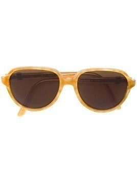 Yves Saint Laurent Pre-Owned side logo sunglasses - Brown