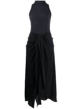 Ssheena halterneck mid-length dress - Black