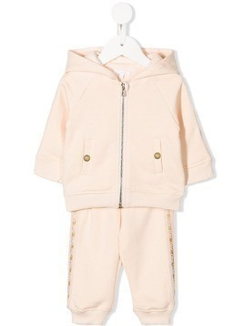 Chloé Kids logo stripe tracksuit set - Neutrals
