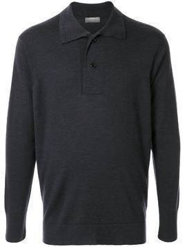 Margaret Howell long sleeved polo shirt - Grey