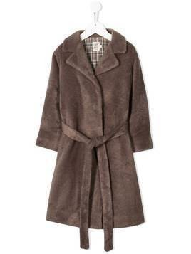 Caffe' D'orzo Betti faux-fur coat - NEUTRALS