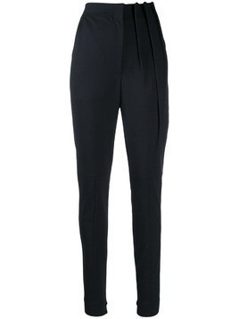 Ji Oh high waisted tapered trousers - Blue