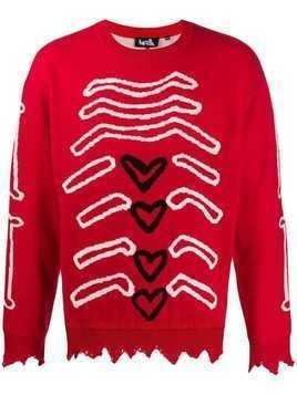 Haculla graphic knit jumper - Red