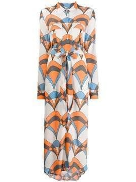 Essentiel Antwerp Troo Troo printed shirt dress - Orange