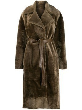 Blancha oversized fur coat - Green